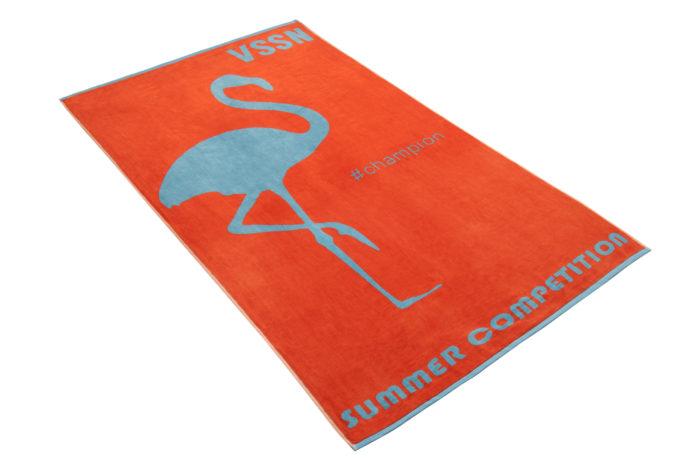 Vossen ręcznik plażowy Miss Flamingo 001 flesh red