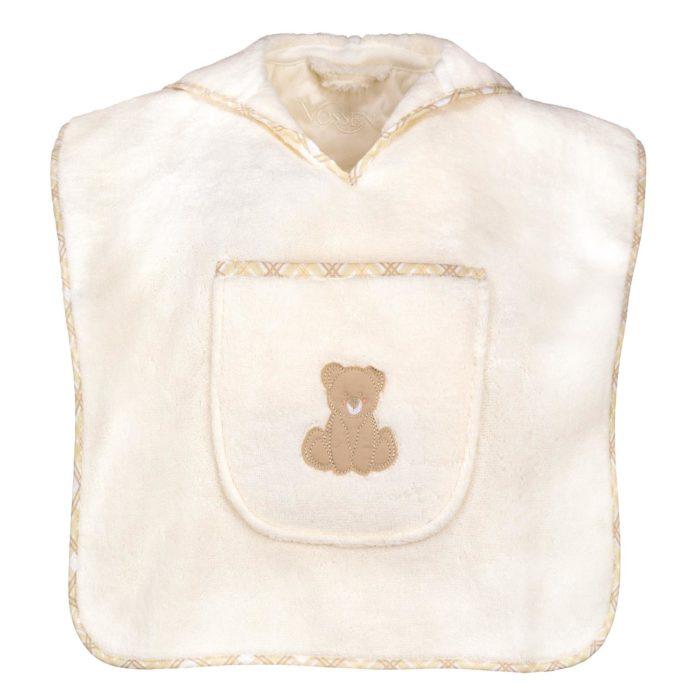 Vossen Poncho Teddy 103 ivory