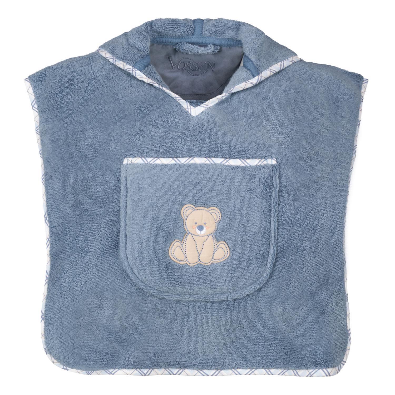 Vossen Poncho Teddy 444 smoke blue