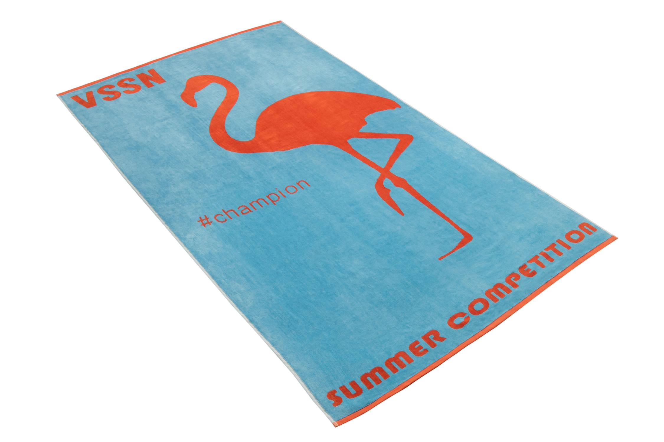 Ręcznik plażowy Mister Flamingo 001 paradise blue