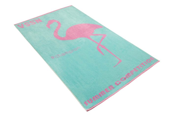 Ręcznik plażowy Mister Flamingo 002 carpi blue